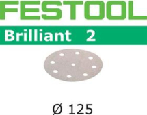 Festool Brilliant 2 P180 Sanding Disc 125mm Box 100