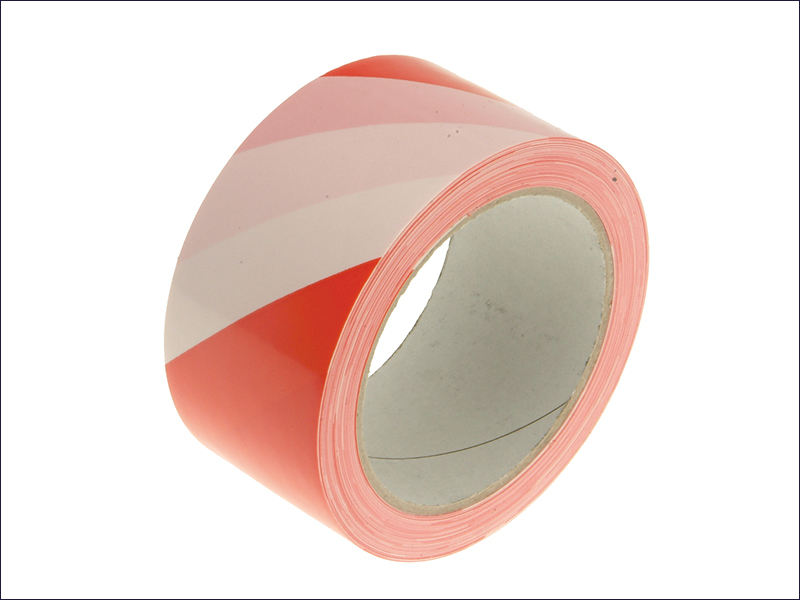Hazard Warning Safety Tape 33m Red & White