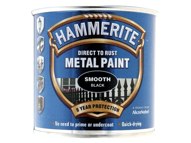 Hammerite Smooth Finish  Paint Red 250ml