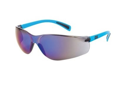 OX Safety Glasses Blue Mirror