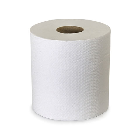 Centrefeed Towel 2 Ply White Paper Roll