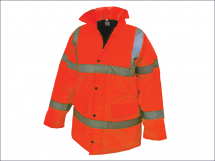 Hi-Vis Bomber Jacket Orange - L (42-44in)