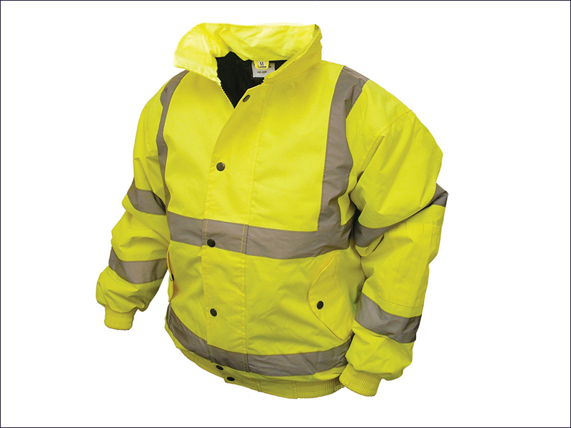 Hi-Vis Bomber Jacket Yellow - XL (46-48in)