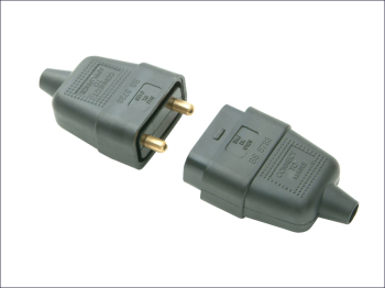 Rubber Plug & Socket 2 Pin 10amp
