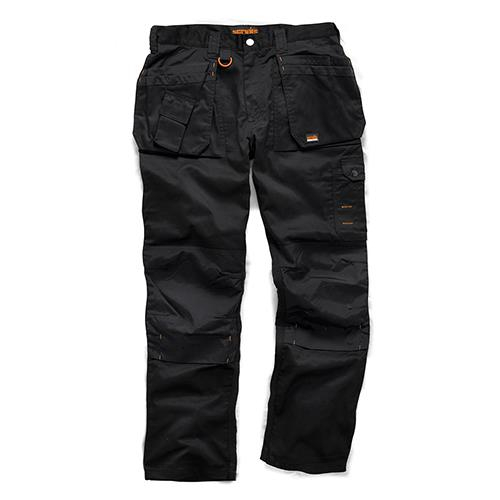 Scruffs 34R Worker Plus Trousers Black