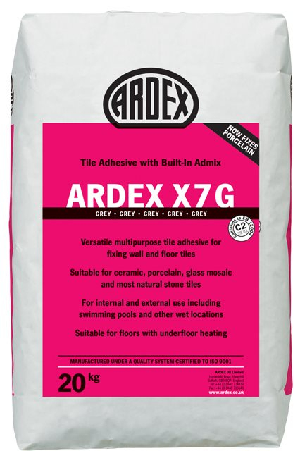 Ardex X7G Standard Setting Grey Flexible Tile Adhesive