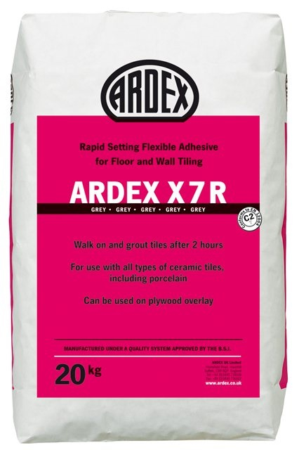 Ardex X7RW Rapid Setting White Flexible Tile Adhesive