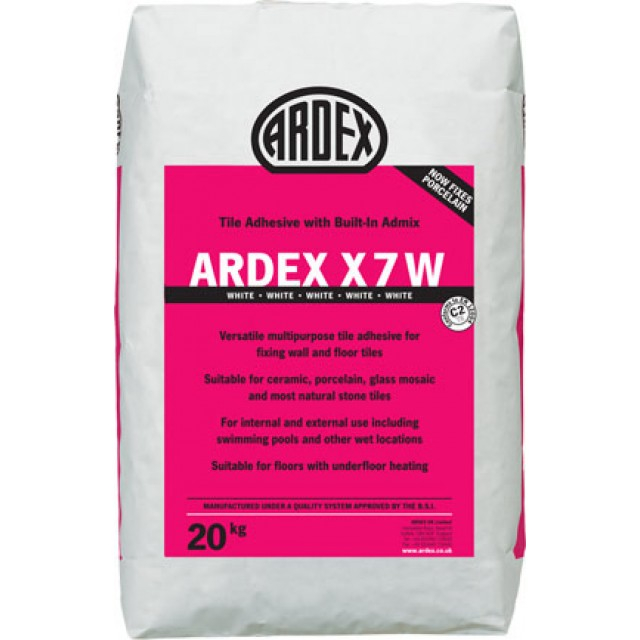 Ardex X7W Standard Set White Flexible Tile Adhesive